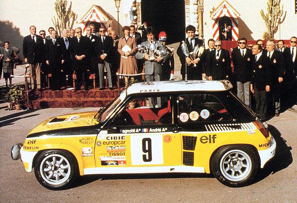 1981 Ragnotti Andrie Monte Carlo Renault 5 turbo