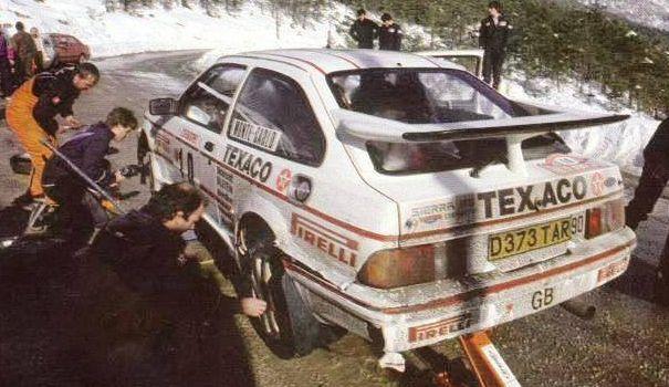 grundel harryman ford sierra RS cosw monte 1987, 84th bis