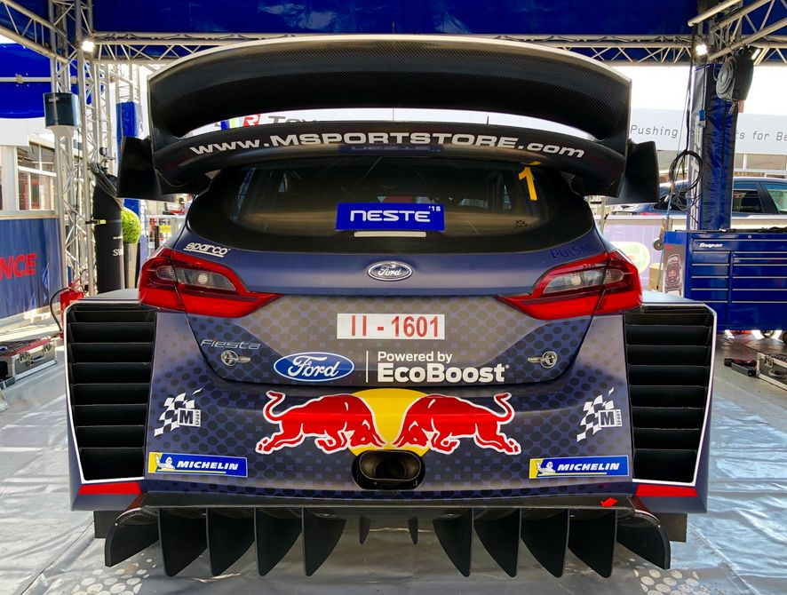 new rear aero design for the ford fiesta wrc 2018 for rally finland wrcwings. Black Bedroom Furniture Sets. Home Design Ideas